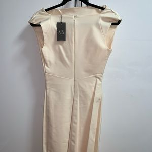 Armani Exchange shift ivory dress